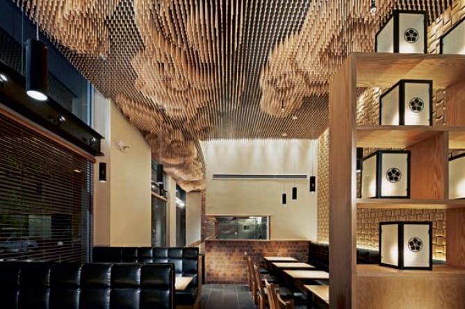 设计 欣赏/酒店餐厅设计师希望人们感受到日本的细腻美。