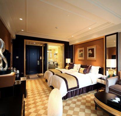 黑金调欧式奢华风格酒店客房设计效果图欣赏